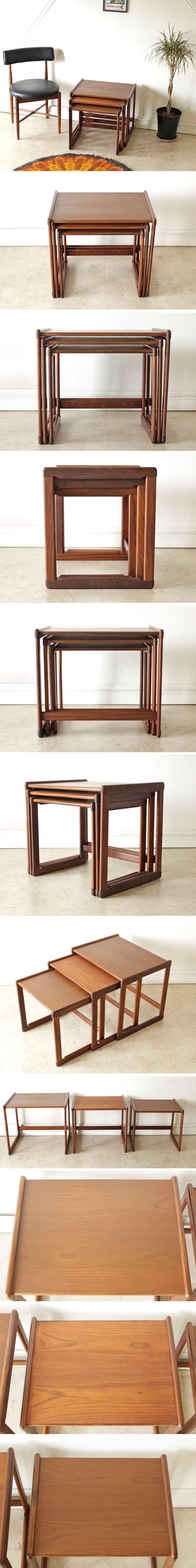 G-plan・ジープラン・ネストテーブル・コーヒーテーブル・チーク・ビンテージ・アンティーク・北欧