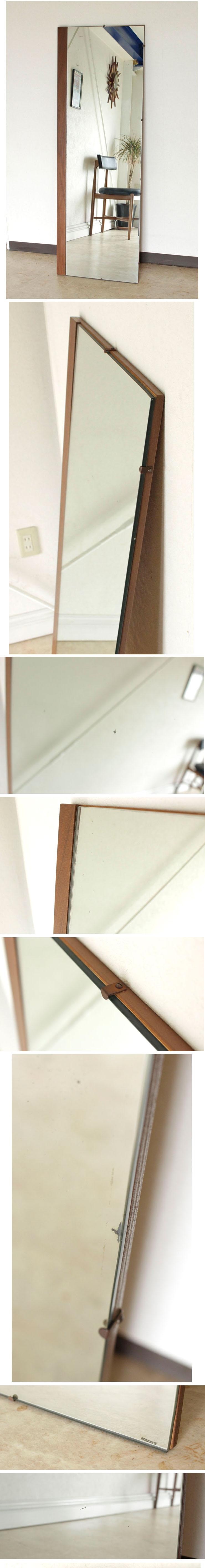 イギリス・ミラー・姿見・全身鏡・ミッドセンチュリー・ビンテージ・アンティーク・雑貨