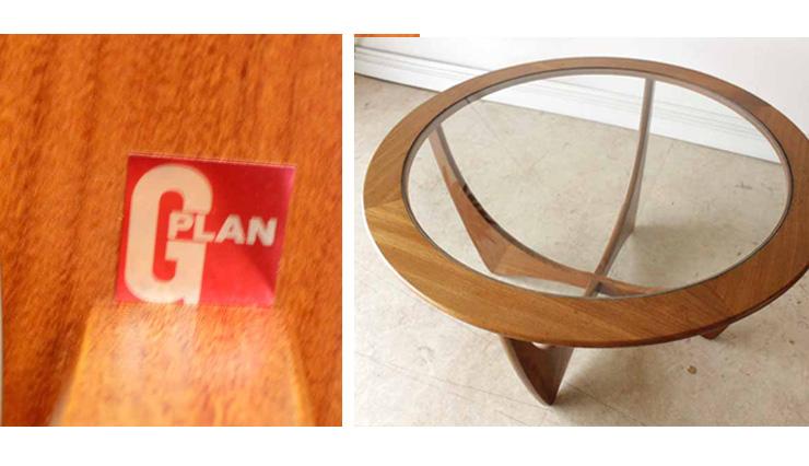 G-planジープラン・ビンテージ【70年代】ラウンドコーヒーテーブル・ガラス・チーク/イギリス製ミッドセンチュリー・アンティーク家具