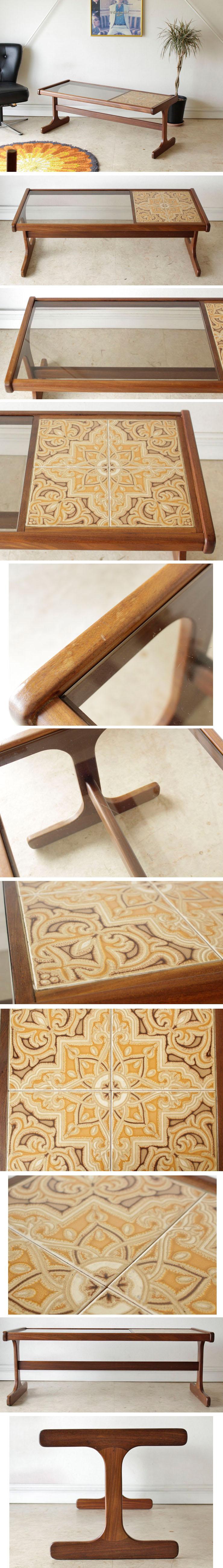 ジープラン・G-plan・コーヒーテーブル・センターテーブル・タイル・ガラス・ビンテージ・アンティーク・北欧