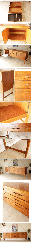 テレビボード・ネイサン・NATHAN・サイドボード・ビンテージ・チーク・アンティーク・ミッドセンチュリー・食器棚・家具・リノベーション