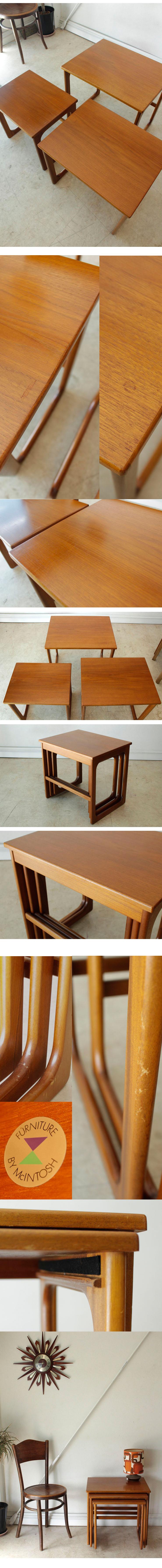 ネストテーブル,テーブル,マッキントッシュ,家具,アンティーク,イギリス,ビンテージ,ミッドセンチュリー