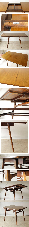 イギリス・ダイニングセット・テーブル・伸張式・チェア・EVEREST・ビンテージ・アンティーク・ミッドセンチュリー