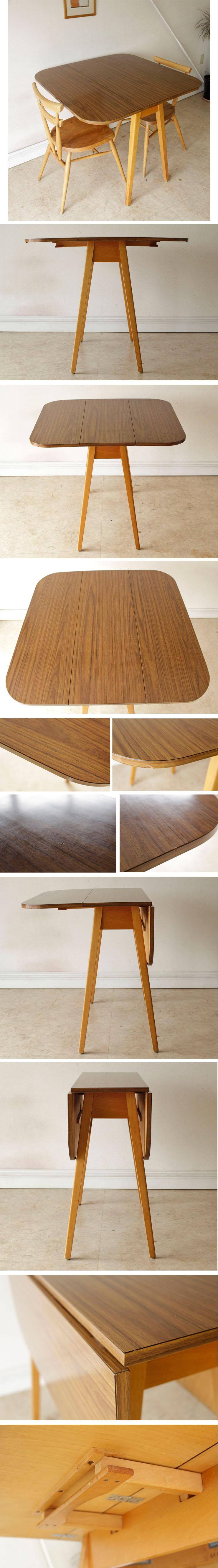 イギリス・ダイニングテーブル・フォーマイカ・ビンテージ・バタフライ・アンティーク・レトロ