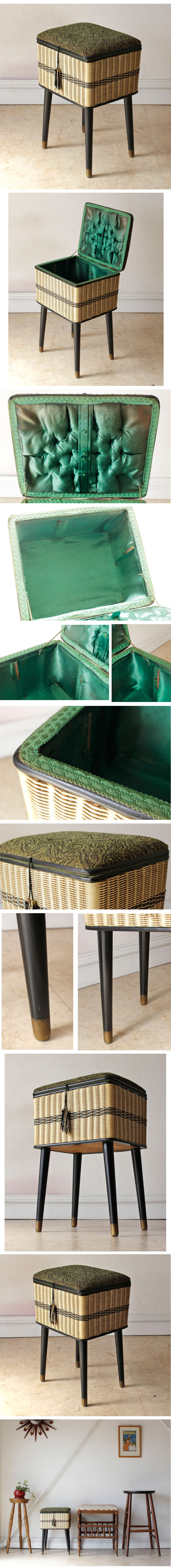 イギリス・ソーイングボックス・裁縫箱・スツール・雑貨・レトロ・アンティーク・ビンテージ
