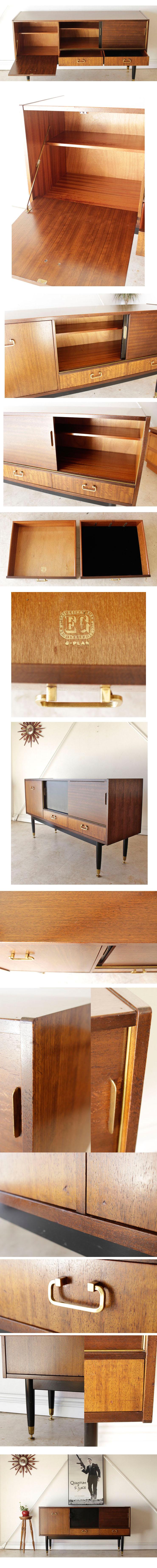 ジープラン・G-plan・サイドボード・テレビボード・ブラックトーラ・ビンテージ・アンティーク・ミッドセンチュリー・家具・輸入・中古