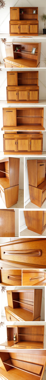 ジープラン・G-plan・ハイサイドボード・食器棚・ビンテージ・チーク・アンティーク・北欧