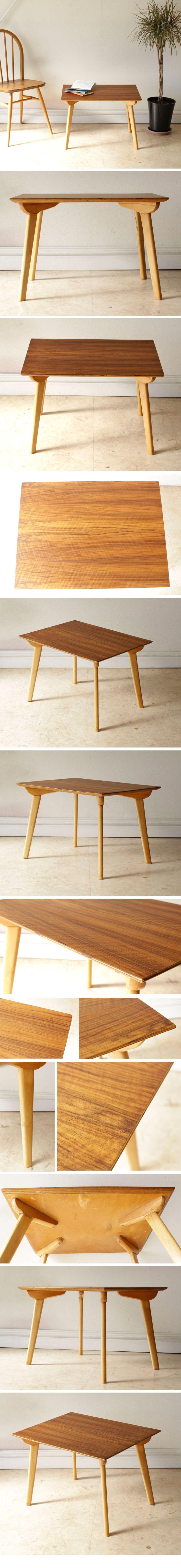 イギリス・コーヒーテーブル・センターテーブル・ウォールナット・ビンテージ・アンティーク・北欧