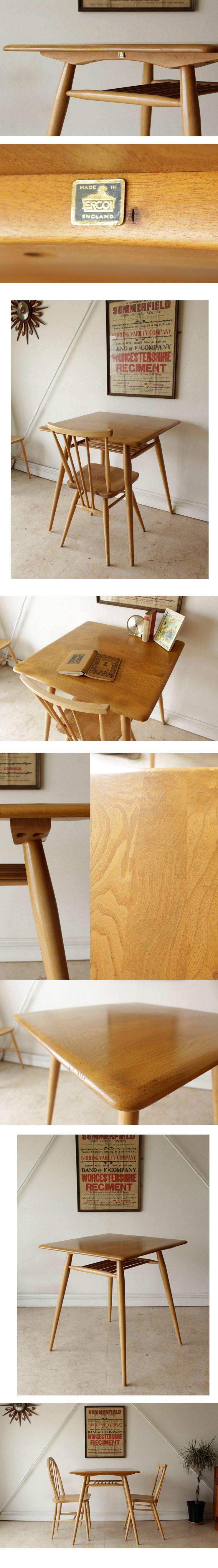 アーコール,ERCOL,テーブル,正方形,アンティーク,ビンテージ,イギリス,家具