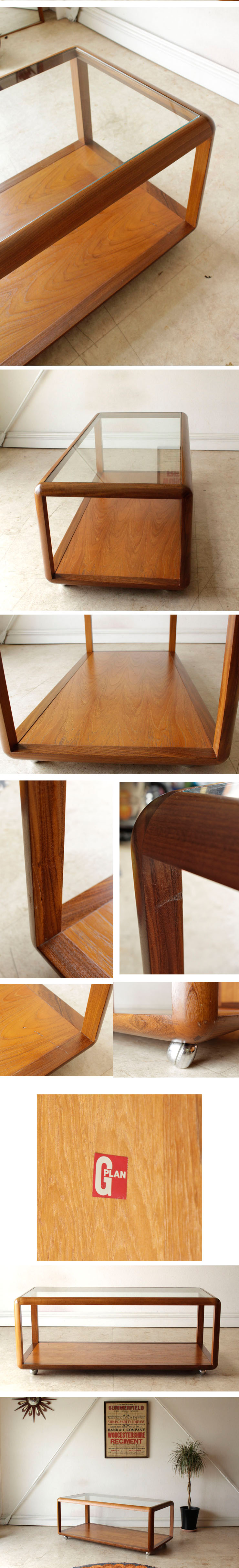 G-plan・ジープラン・ガラステーブル・コーヒーテーブル・センターテーブル・チーク・ビンテージ・アンティーク・北欧