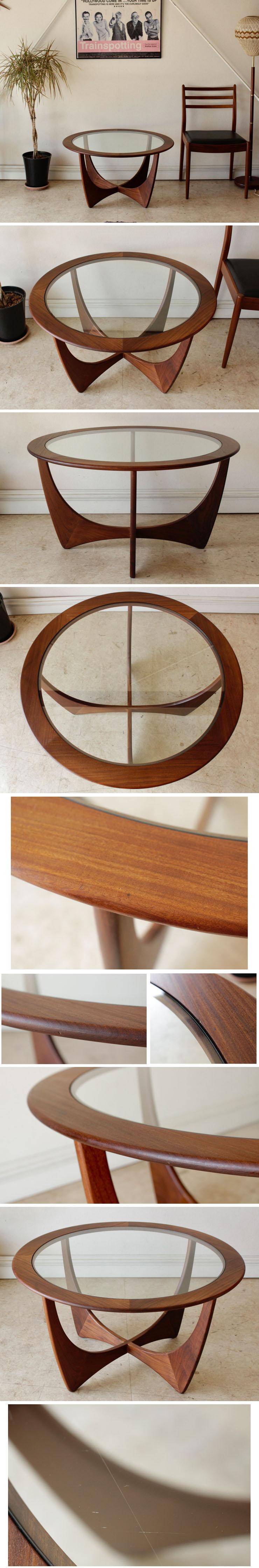 ジープラン ・ガラステーブル・コーヒーテーブル・サークル・チーク・ビンテージ・アンティーク・ミッドセンチュリー・イギリス