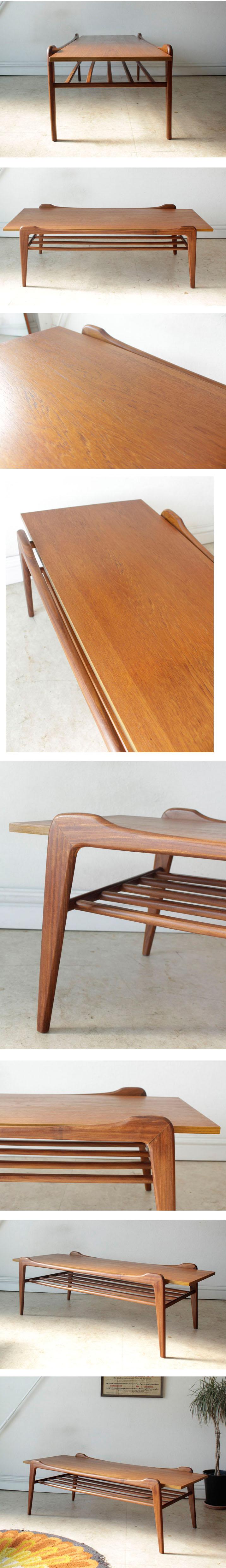 デンマーク製コーヒーテーブル・チーク・ビンテージ・アンティーク