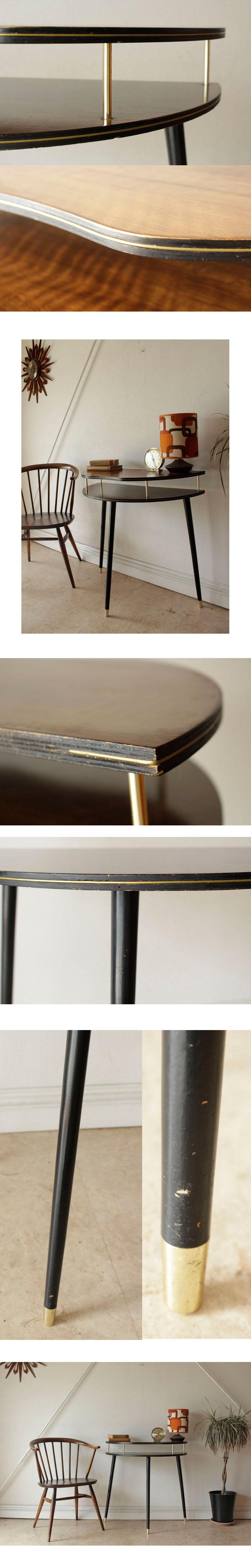 コンソール・サイドテーブル・Black&Tola・ハーフムーン・ビンテージ・イギリス・アンティーク