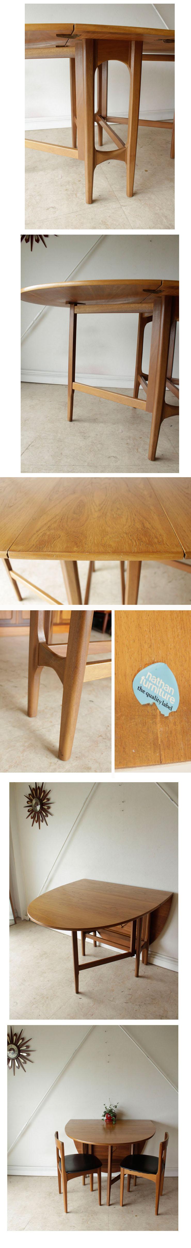 ネイサン・NATHAN・ダイニングテーブル・折畳み・ドロップリーフ/ビンテージ・チーク・アンティーク・ミッドセンチュリー・家具