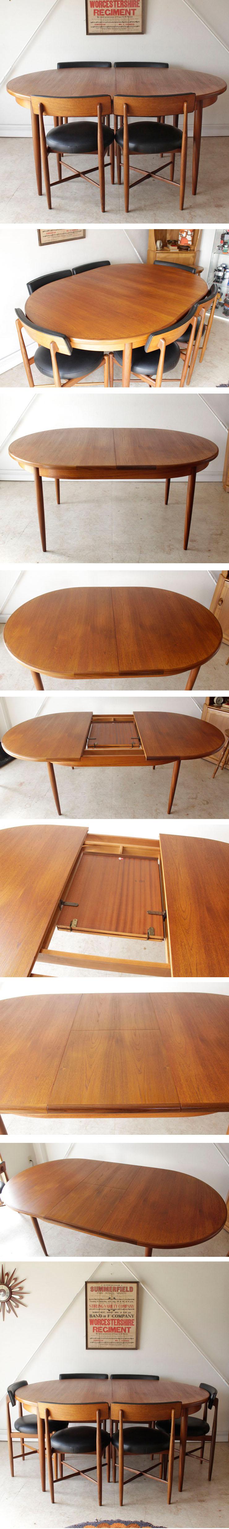 イギリス製・G-plan・ジープラン・オーバルダイニングテーブル・ビンテージ