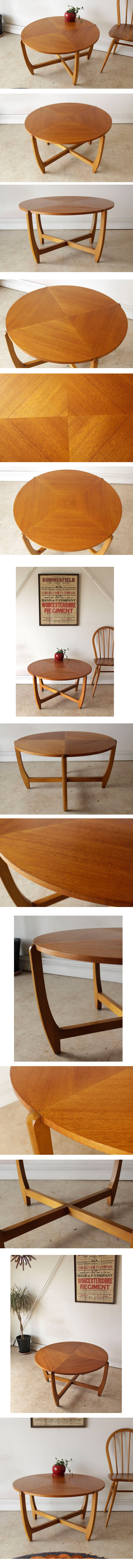 ネイサン・NATHAN・ラウンド・円形・コーヒーテーブル・ビンテージ・チーク・アンティーク・ミッドセンチュリー・北欧デザイン・家具