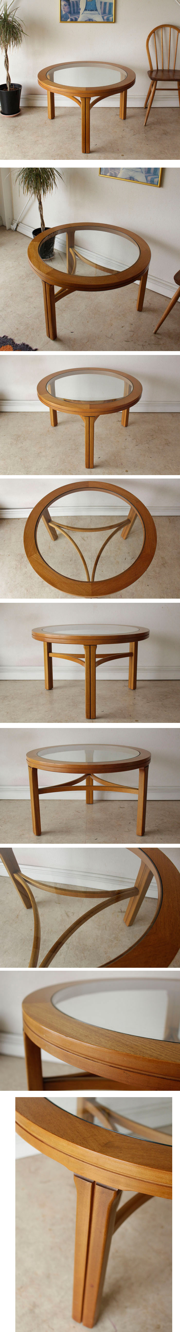 イギリス製NATHANネイサン・ビンテージコーヒーテーブル【ガラス】チーク/ミッドセンチュリー