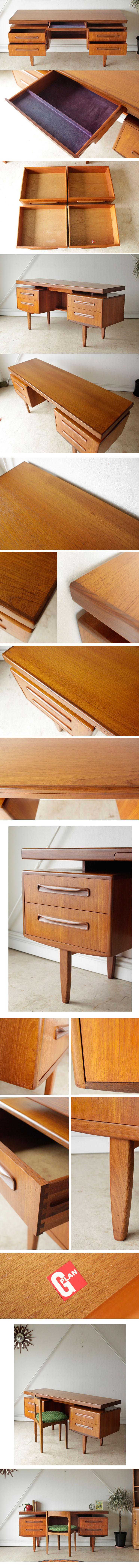 ジープラン・G-plan・デスク・ビンテージ・家具・アンティーク・机・北欧