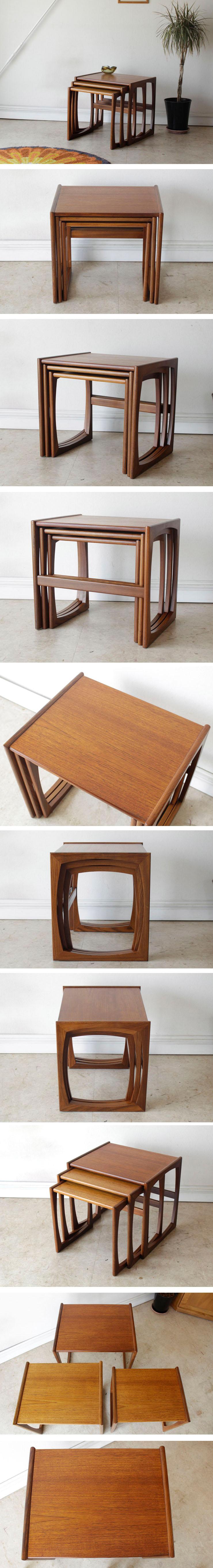 イギリス製・G-plan・ジープラン・コーヒーテーブル・ネストテーブル・チーク・アンティーク・北欧