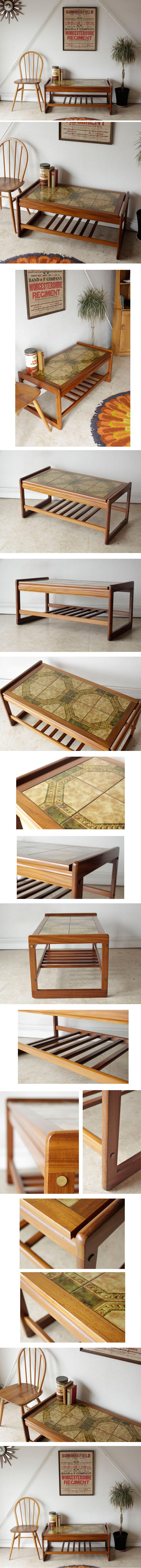 タイルテーブル・コーヒーテーブル・アンティーク・ビンテージ・家具・輸入・中古