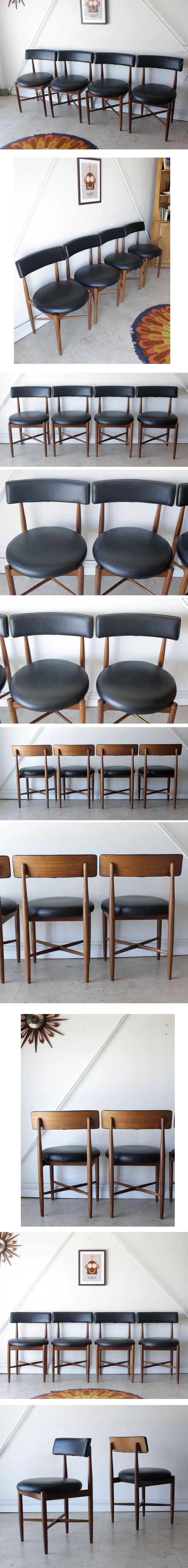 G-planジープラン・フレスコ・ダイニングチェア4脚セット・ビンテージ・チーク北欧家具