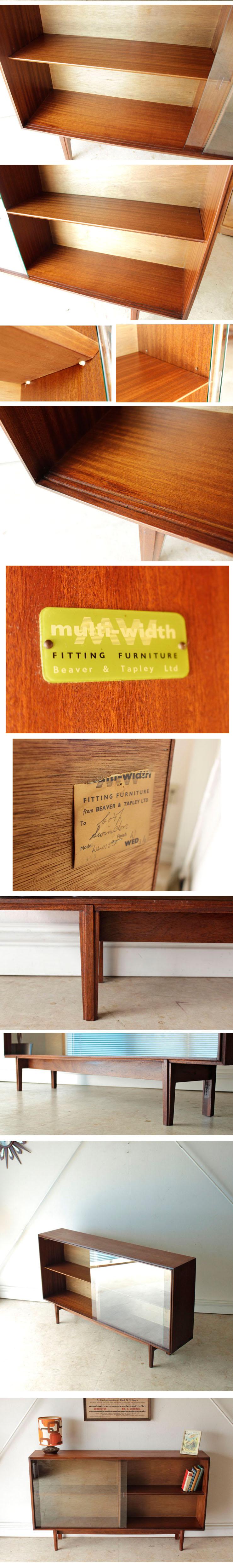 イギリス・ビンテージ・ブックケース・本棚・ミッドセンチュリー・チーク