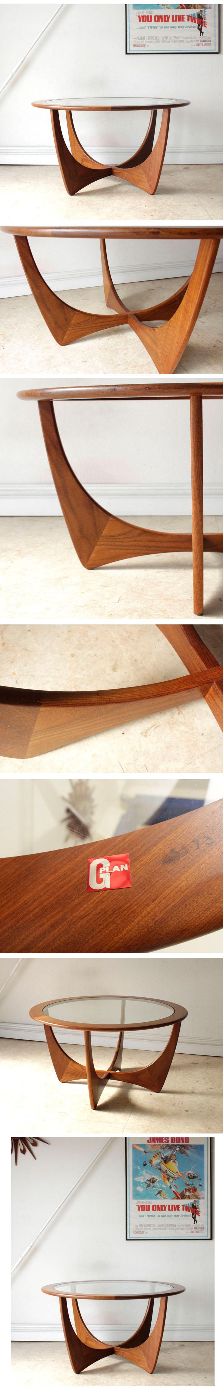 ジープラン・G-plan・コーヒーテーブル・ガラス・ビンテージ・家具・アンティーク・北欧・インテリア