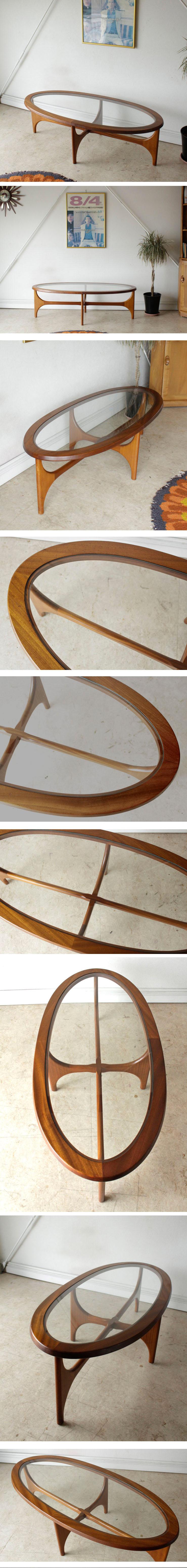 イギリス製・ストーンヒル・コーヒーテーブル・アンティーク・ビンテージ・北欧・ガラステーブル