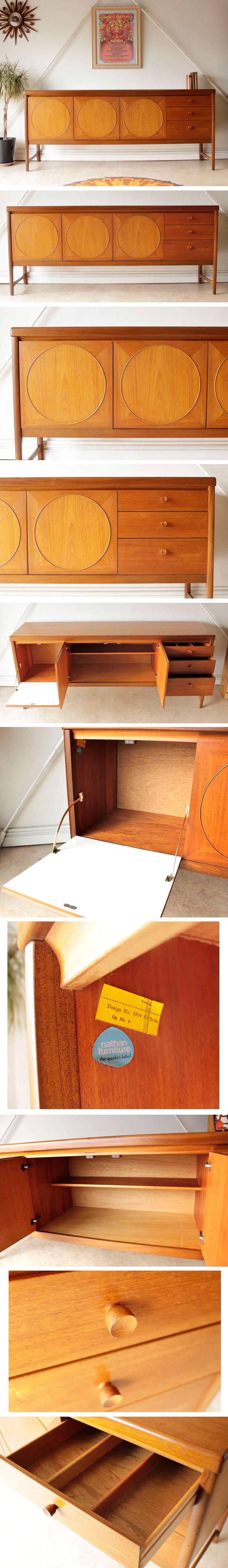 ネイサン・サイドボード・サークル・チーク・ビンテージ・北欧・輸入家具