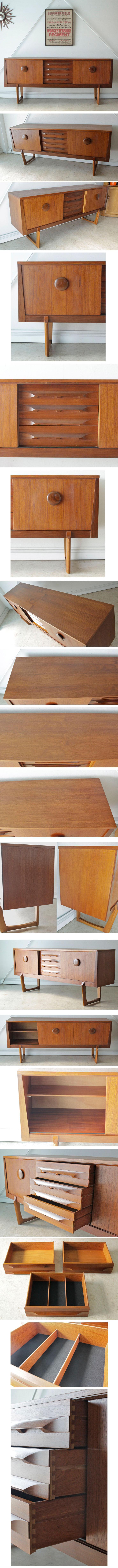 イギリス製ビンテージ・サイドボード【チーク】テレビボード・Elliotts of Newbury製/アンティーク・収納家具・ミッドセンチュリー014001