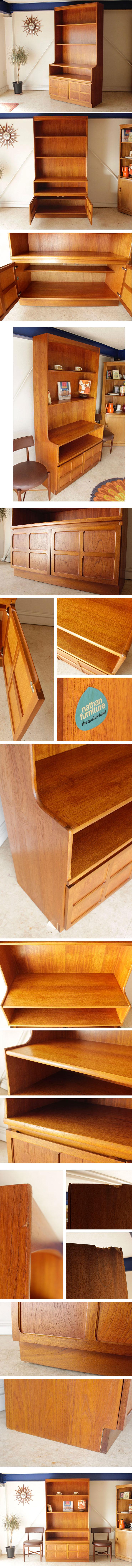 イギリス製のヴィンテージキャビネット。ネイサン社製品で食器棚やサイトボードしても使えます。