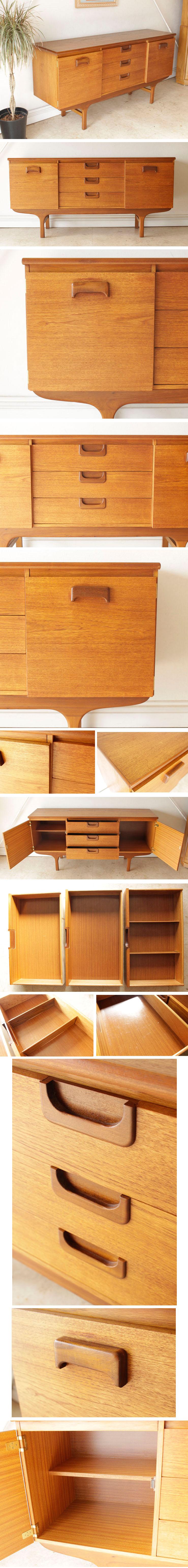 イギリス・サイドボード・チーク・テレビボード・収納・輸入家具・北欧・アンティーク
