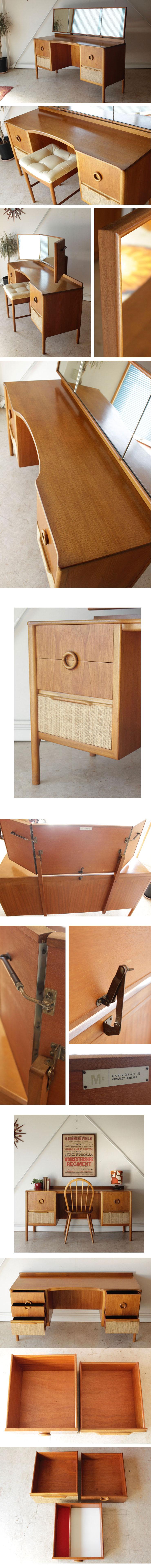 机にもなるイギリス製ビンテージドレッサーデスク・ミッドセンチュリーアンティーク