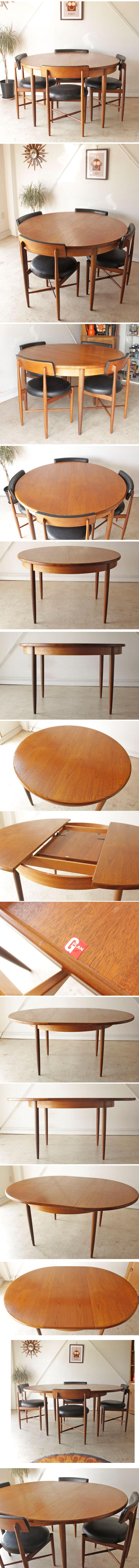 G-planジープラン・伸張式ダイニングテーブル/イギリス製ビンテージ家具/北欧アンティーク014046