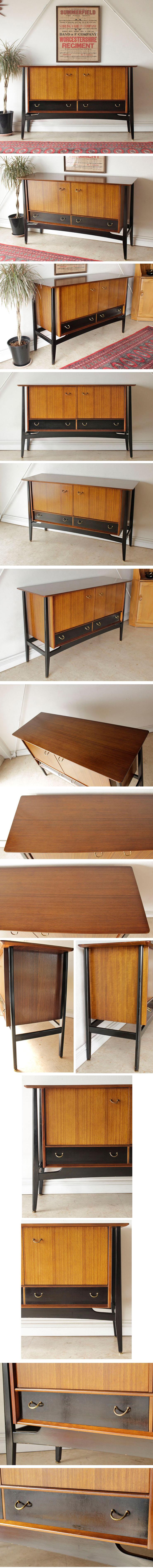 G-planジープラン・サイドボード・キャビネット・ブラック&トーラ/イギリス製ビンテージ家具ミッドセンチュリー