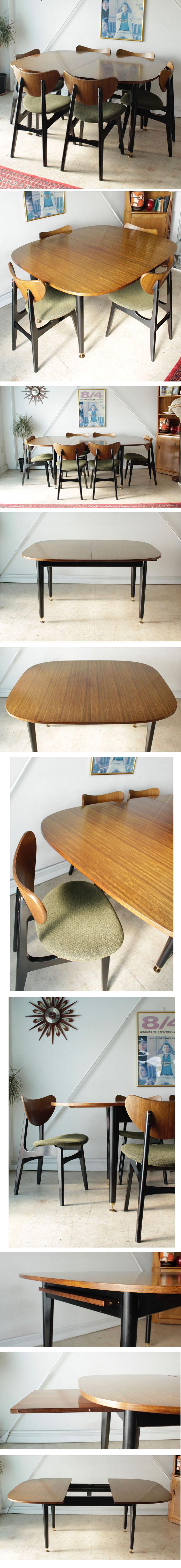 イギリス製・G-plan・ジープラン・ダイニングテーブル・ビンテージ・チーク・アンティーク・北欧