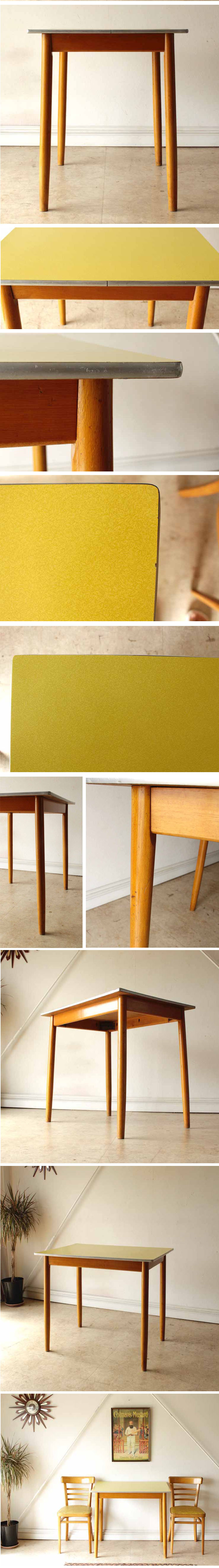 ダイニングテーブル・フォーマイカ・ビンテージ・アンティーク・輸入家具