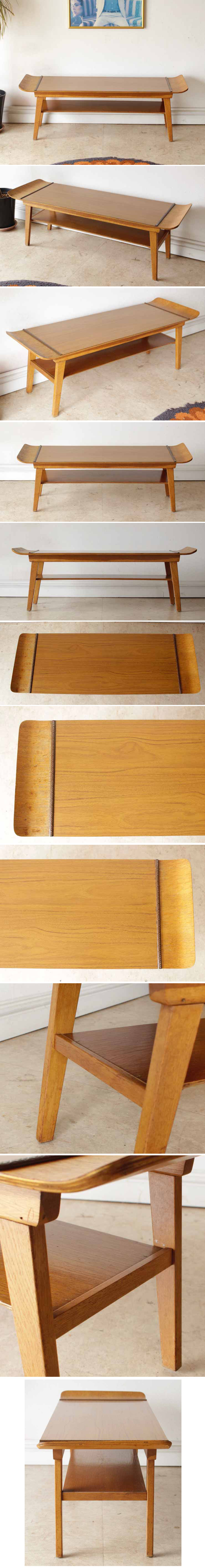 イギリス製・MYER社製/ビンテージ・コーヒーテーブル・センターテーブル/Formica・フォーマイカ