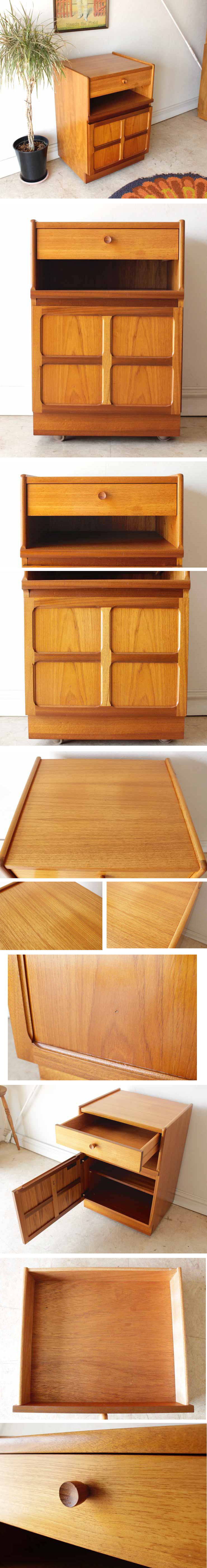 Nathan・ネイサン・キャビネット・収納棚・チーク・イギリス製・ビンテージ家具