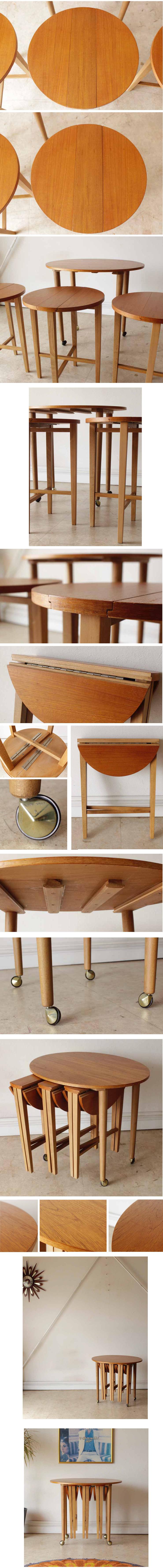 ビンテージアンティーク・サイドテーブル・コーヒーテーブル・ネストテーブル・イギリス製家具