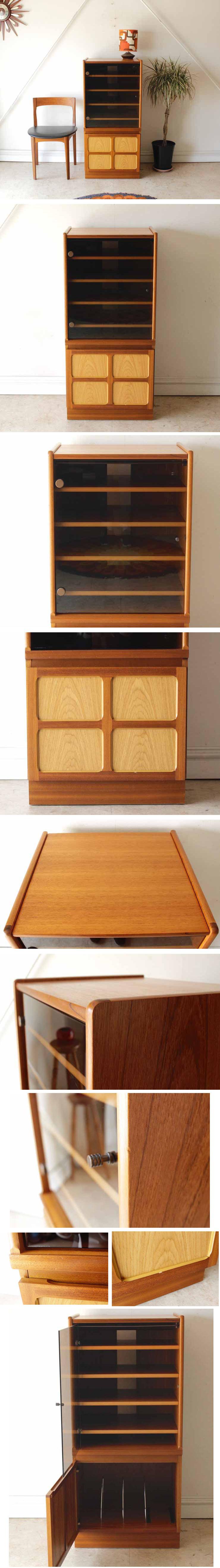 イギリス・NATHAN・ネイサン・キャビネット・収納棚・ビンテージ・アンティーク家具・北欧