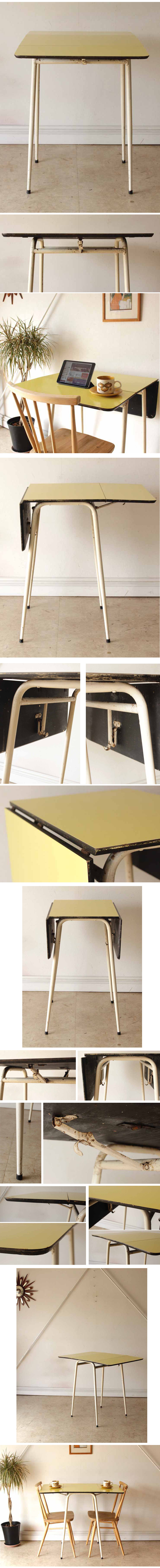 イギリス製ビンテージFormicaフォーマイカ・ダイニングテーブル・バタフライ/アンティーク家具・カフェ・レトロ