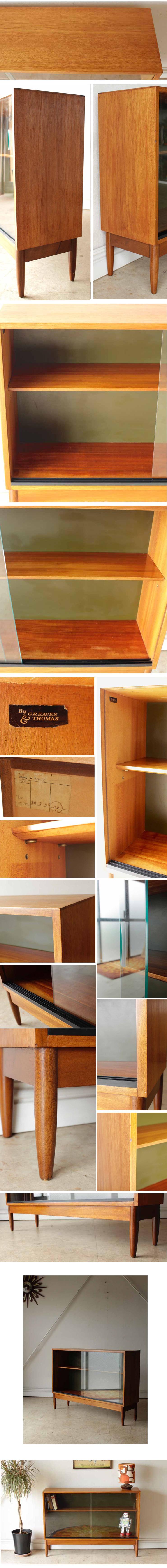 イギリスGreaves & Thomas製(グリーブス&トマス)ビンテージチーク・ブックケース・本棚・キャビネット/アンティーク家具