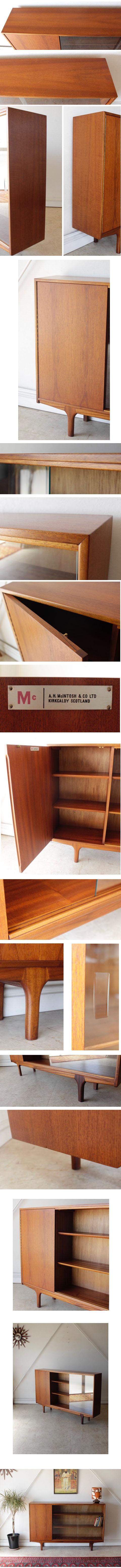 イギリス製ビンテージチーク・本棚・ブックケース/ミッドセンチュリー北欧アンティーク家具