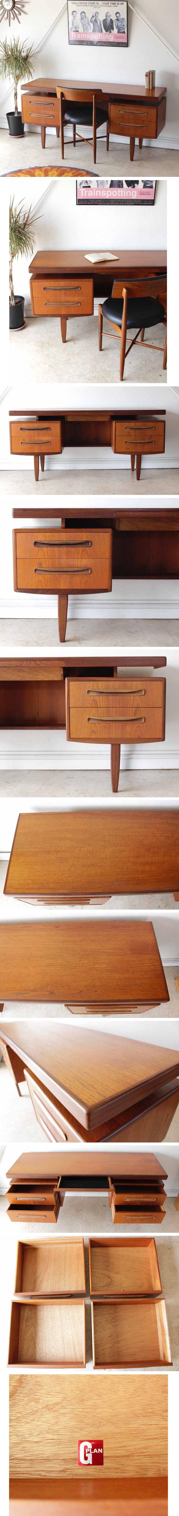 ジープラン・G-plan・デスク・ビンテージ・家具・アンティーク・机・北欧・ミッドセンチュリー