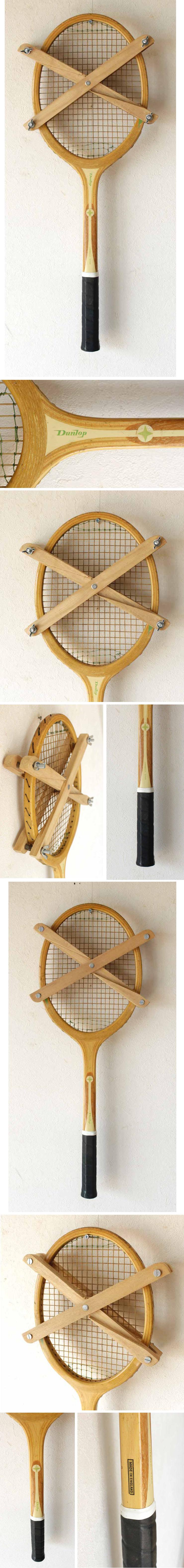 イギリス・テニスラケット・ダンロップ・インテリア・ビンテージ・アンティーク・英国