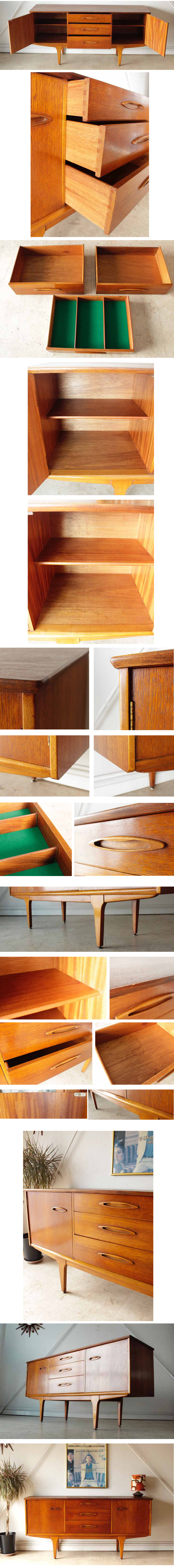 イギリスJentique製(ジェンティーク)ビンテージ【チーク】サイドボード/アンティーク家具・北欧
