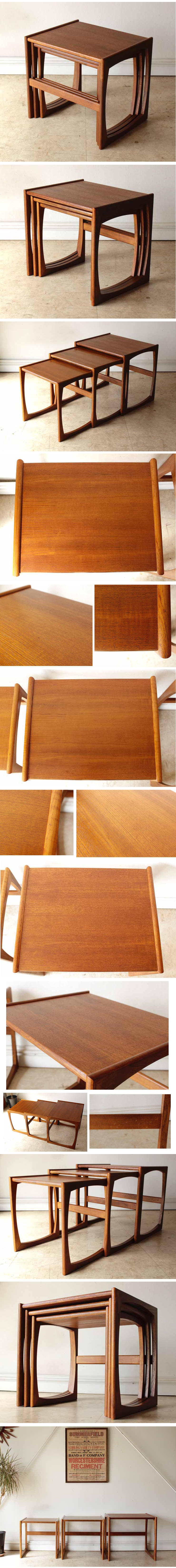 ジープラン・ネストテーブル・チーク・ビンテージ・コーヒーテーブル・アンティーク・北欧