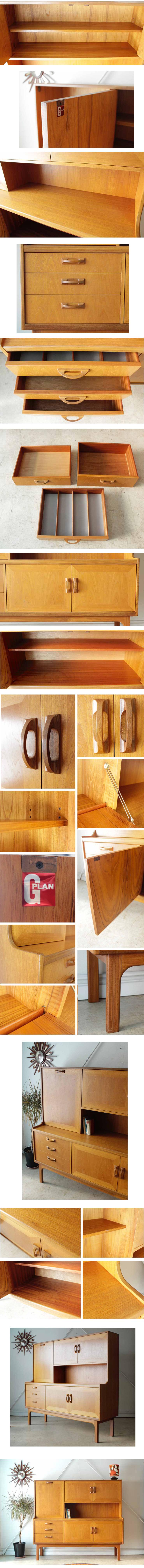 G-planジープラン【ビンテージチーク】【イギリス】 サイドボード食器棚アンティーク北欧デザイン