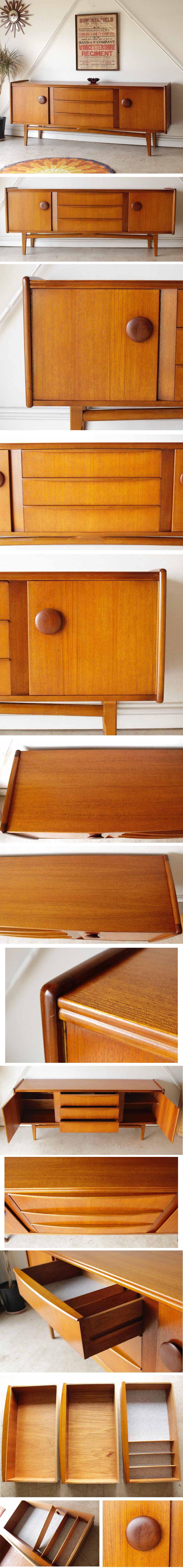 イギリス・サイドボード・チーク・テレビボード・北欧・ビンテージ・アンティーク・輸入家具